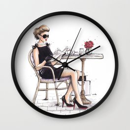 Le Petit Dejeuner Wall Clock