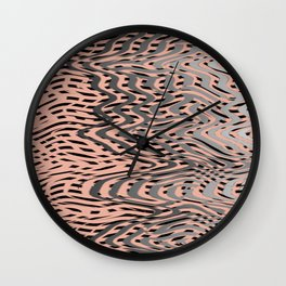 Electric Waves Wall Clock