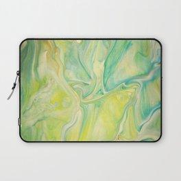 Fluid Nature - Lemon & Lime Sorbet - Acrylic Pour Art Laptop Sleeve