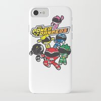 power rangers iPhone & iPod Cases featuring Power Rangers  by Dik Low