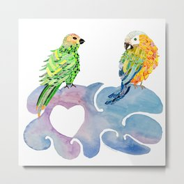 Honeymoon birds Metal Print