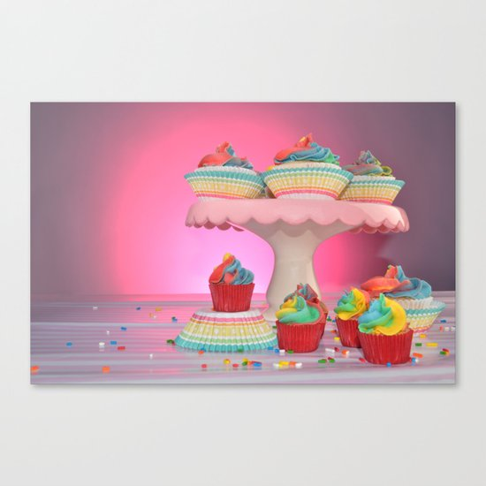 cupcakes in studio Canvas Print