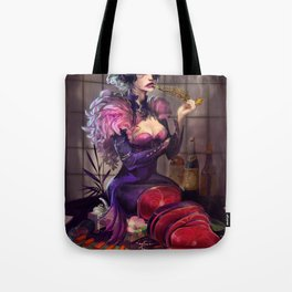 Ephemeral Hostess Girl Tote Bag