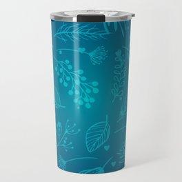 Winter flower Travel Mug