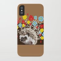 hedgehog iPhone & iPod Cases featuring hedgehog by cara cheng