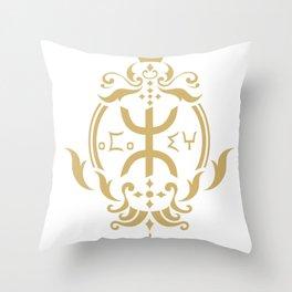 Amazigh King Queen Throw Pillow