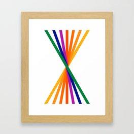 Rainbow Stix Framed Art Print