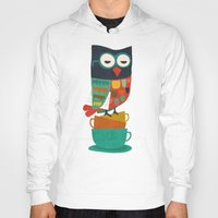 budi Hoodies featuring Morning Owl by Picomodi