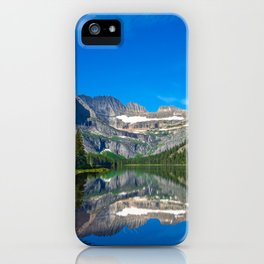 A calm view of lake Josephine along the Grinnell Glacier Trail, Glacier National Park, Montana iPhone Case