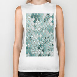 Mermaid Glitter Scales #3 #shiny #decor #art #society6 Biker Tank