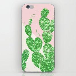 Linocut Cacti Family iPhone Skin