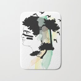 Lost Boy Watercolor Bath Mat