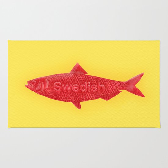 Swedish fish rug by chase kunz society6 Grape swedish fish