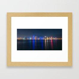 Doha skyscrapers Framed Art Print