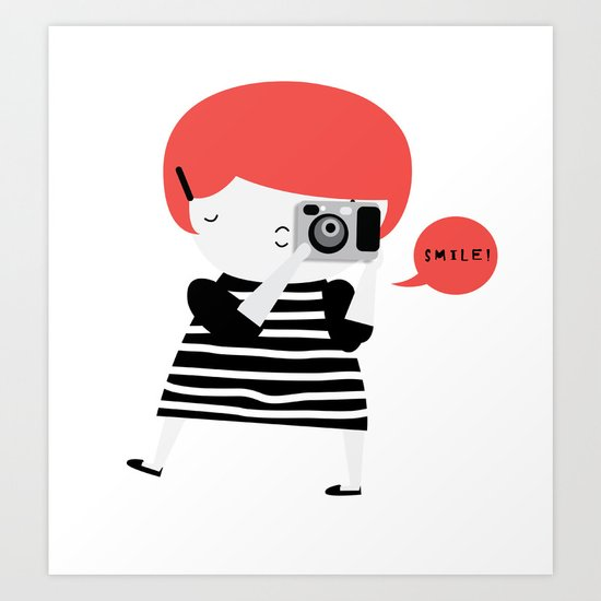 The ginger photographer Art Print