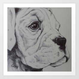 maisy - biro on paper Art Print