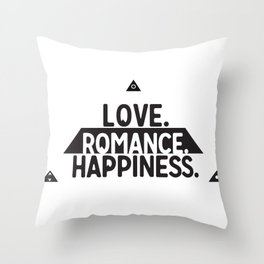 Sacred Symbols - Pyramid - All Seeing Eye - Love,Romance, Happiness - Secret Throw Pillow