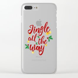 Jingle All The Way Clear iPhone Case