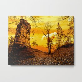 Golden nature Metal Print