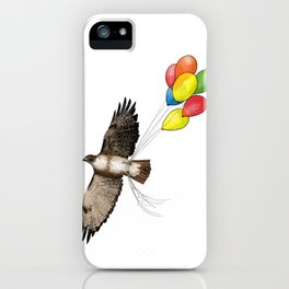 Hawk on his way to a party | Color iPhone Case