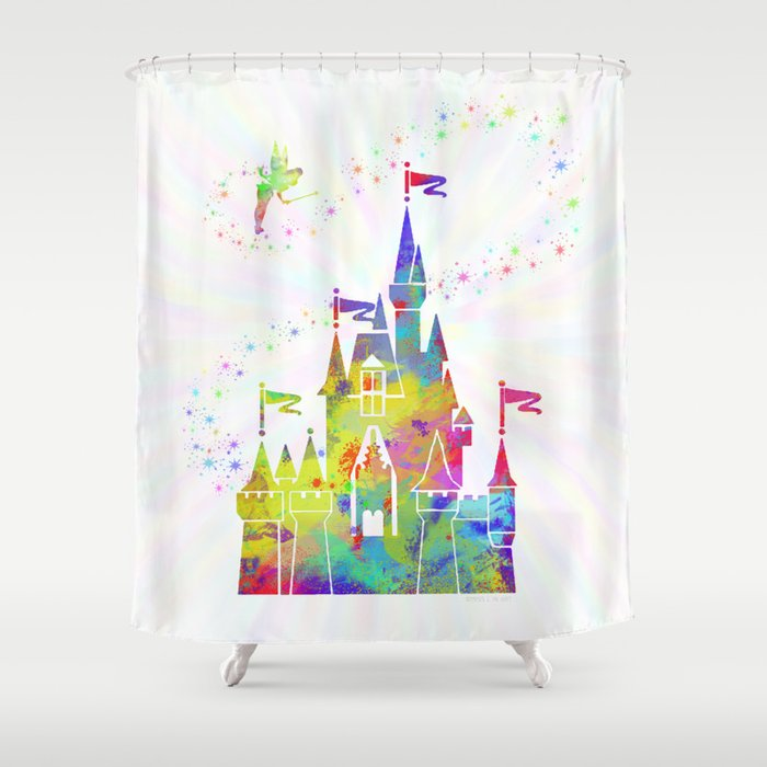 Castle of Magic Kingdom Shower Curtain