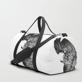 Black and White Cockatoo Illustration Duffle Bag