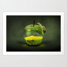 100% natural apple Art Print