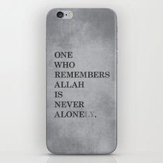 One Who Remembers Allah iPhone & iPod Skin