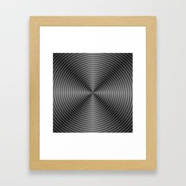 Spiral Quartered in Monochrome Framed Art Print