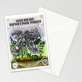 The Bipatisan Pansy Seed Packet Stationery Cards