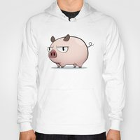 pig Hoodies featuring Pig by Oinkasaurus