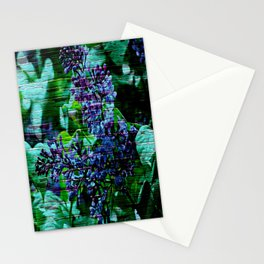 Vintage Textured Painted Lilac Stationery Cards