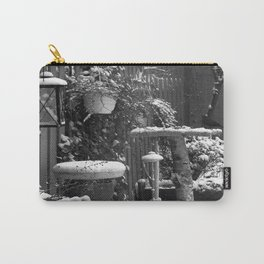 Winterscene in a garden. Carry-All Pouch