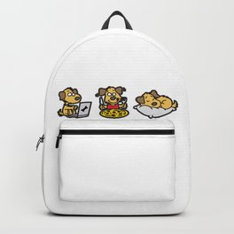 WHAT MAKES ME HAPPY Dog Dogs Doggie Backpack