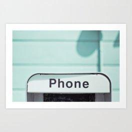 Retro Phone Art Print