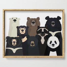 Bear family portrait Serving Tray