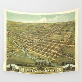 Bird's Eye View of Mount Vernon, Ohio (1870) Wall Tapestry