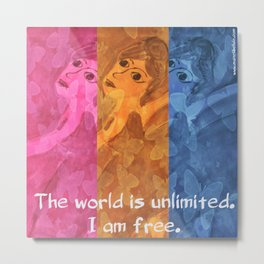 The world is umlimited. I am free... Metal Print