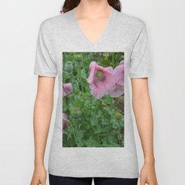 Poppies in rain Unisex V-Neck