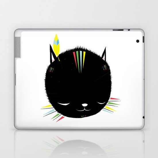 MIGHTY TIGARRR, BLACK KITTEN 묘 Laptop & iPad Skin