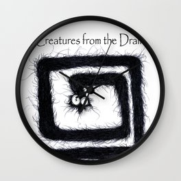 The creatures from the drain 13 Wall Clock