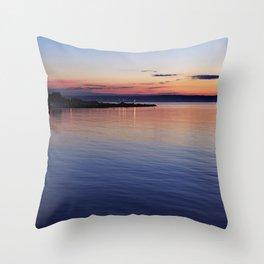 A sunset view of Ballyholme Throw Pillow