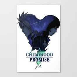 FFVII : A Childhood Promise Design Canvas Print