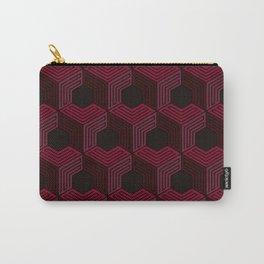 Dark Burgundy Monochromatic pattern Art Print Carry-All Pouch