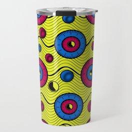 African funky wax print Travel Mug