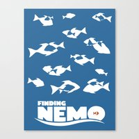 finding nemo Canvas Prints featuring Finding Nemo by Citron Vert