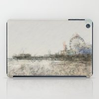 santa monica iPad Cases featuring Scribbled Santa Monica Pier by Christine aka stine1