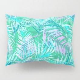Green palm leafs Pillow Sham
