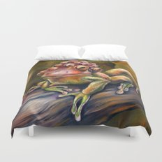 Three-Toed Frog Duvet Cover