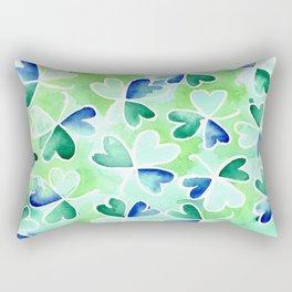 Irish St Patrick's shamrock pattern Rectangular Pillow